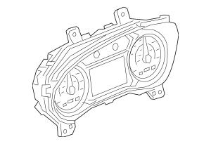 2018-2019 GMC Terrain Instrument Cluster 84246006