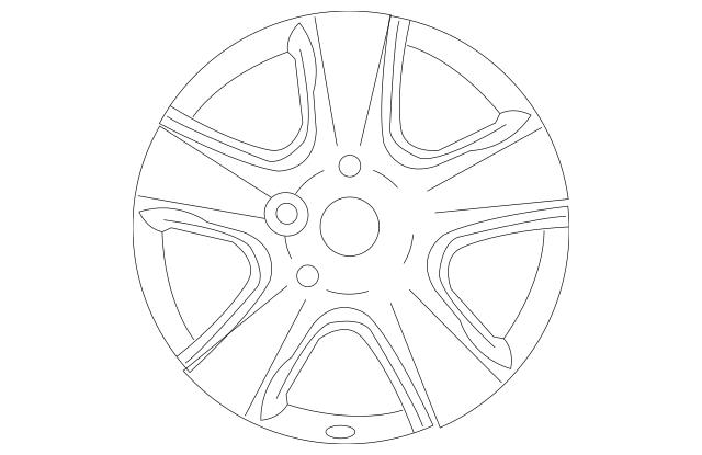2010-2013 Kia Forte Koup Wheel, Alloy 52910-1M360