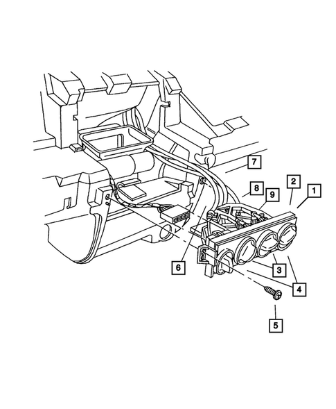Air Conditioner and Heater Controls for 2003 Chrysler PT