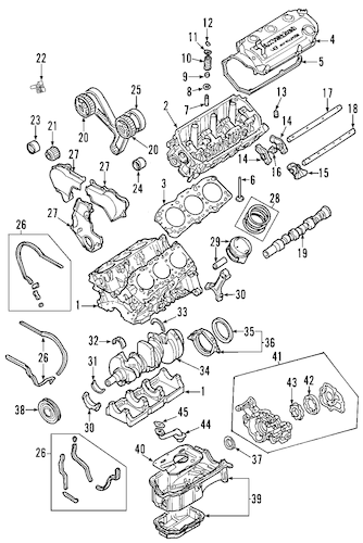 2003 Mitsubishi Outlander Exhaust Diagram