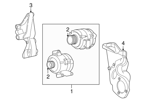 Alternator/Generator & Related Components for 2000 Ford F