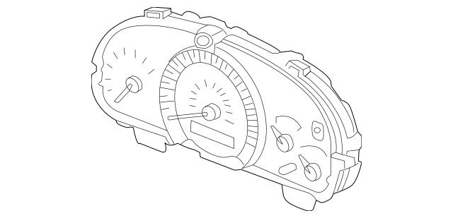 2005 Honda ACCORD SEDAN Meter Assembly, Speed & Tachometer