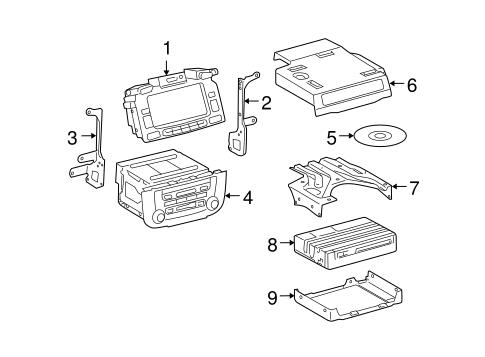 Genuine OEM Navigation System Components Parts for 2005