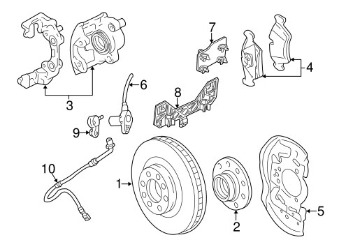 BRAKE COMPONENTS Parts for 2002 Saturn L200