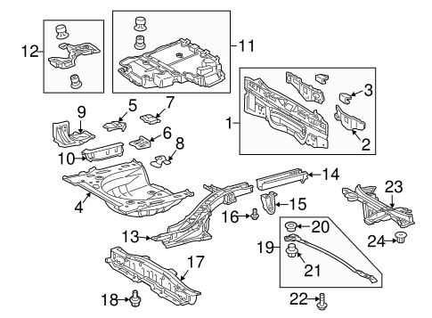 Genuine OEM Rear Body Parts for 2013 Toyota Prius Two
