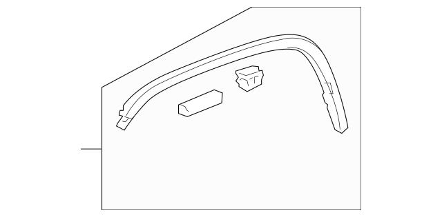 2009-2010 Honda ELEMENT 5-DOOR Protector, Left Front Wheel