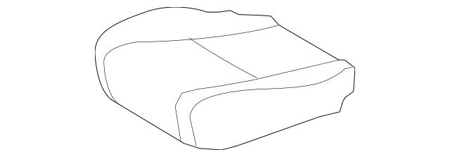 2008-2010 Toyota Highlander Cushion Cover 71072-0E080-E0