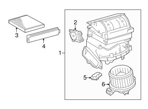 Genuine OEM Blower Motor & Fan Parts for 2015 Scion tC