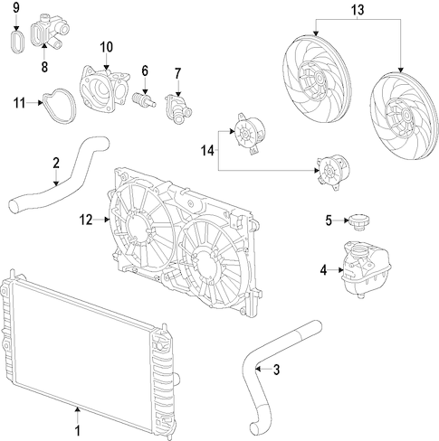 WATER PUMP Parts for 2013 Chevrolet Malibu