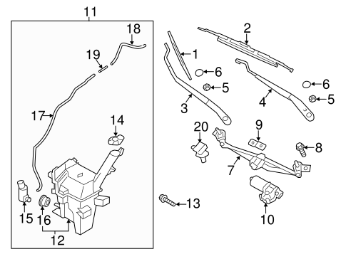 Wiper & Washer Components for 2015 Hyundai Veloster