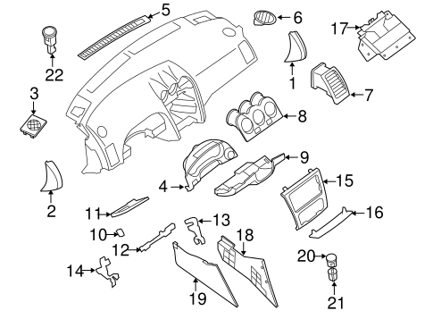 INSTRUMENT PANEL COMPONENTS for 2009 Nissan Altima