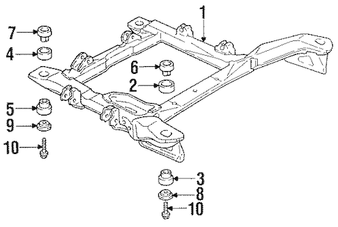 SUSPENSION MOUNTING Parts for 1997 Oldsmobile Cutlass Supreme