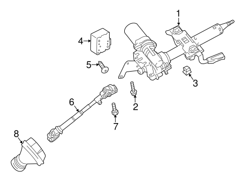 Steering Column Assembly for 2014 Mitsubishi Mirage