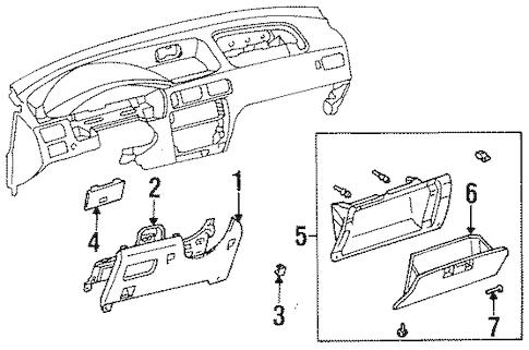 Genuine OEM Instrument Panel Parts for 1996 Toyota Tercel
