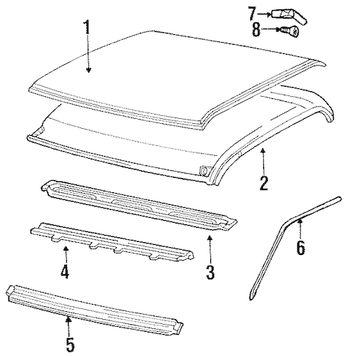 ROOF Parts for 1988 GMC C1500 Pickup