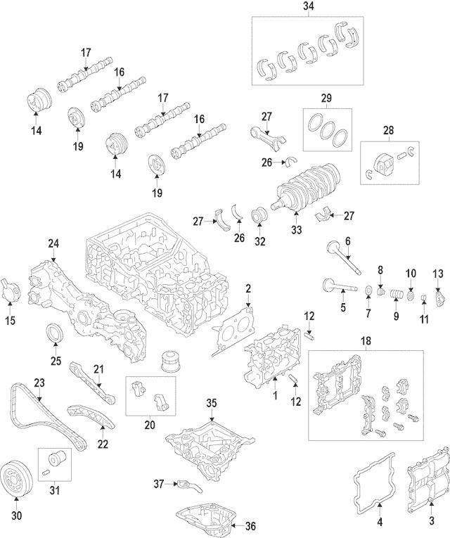 2011-2012 Subaru Forester Intake Camshaft 13031AA803