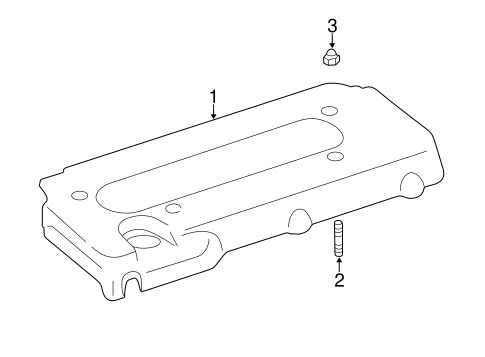 Genuine OEM ENGINE APPEARANCE COVER Parts for 2005 Toyota