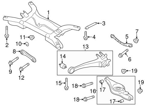 Rear Suspension for 2014 Mitsubishi Outlander Sport