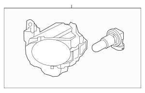 Buy this Genuine 2012-2013 Kia Soul Fog Lamp Assembly