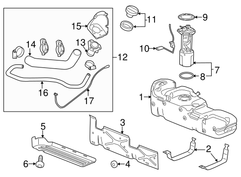 Fuel System Components for 2013 Chevrolet Silverado 2500