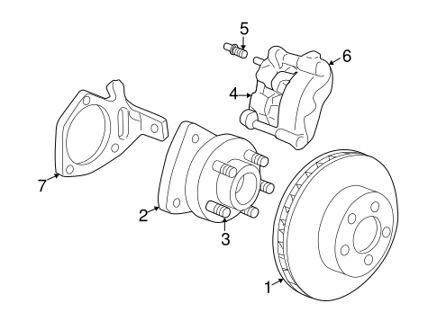 FRONT BRAKES for 2000 Buick Century