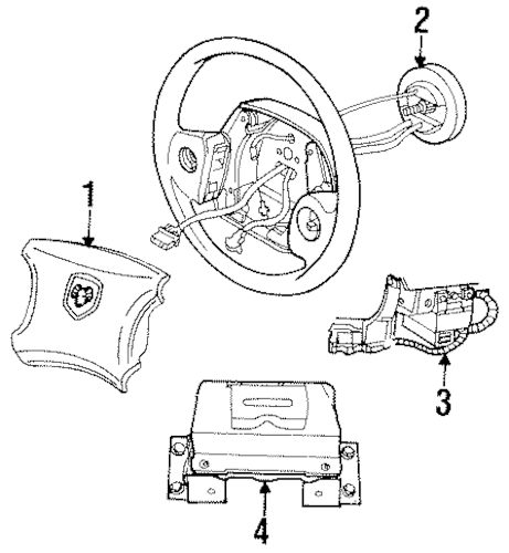 Air Bag Components for 2000 Dodge Ram 1500 Parts