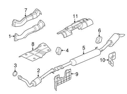 OEM EXHAUST COMPONENTS for 2005 Saturn Relay