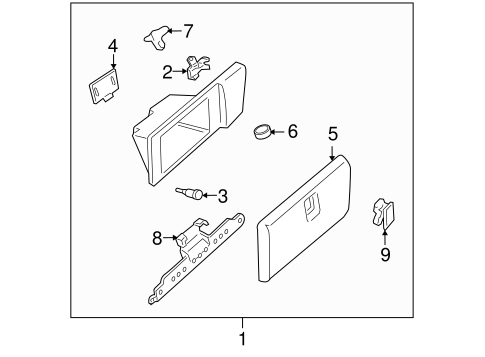 GLOVE BOX for 2007 Buick Terraza (CXL)
