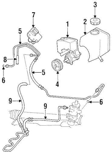 OEM 1998 Chevrolet Monte Carlo Pump & Hoses Parts
