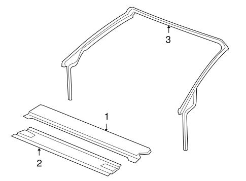 OEM 2006 Pontiac G6 Roof & Components Parts