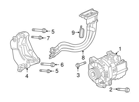 ALTERNATOR for 2009 Chevrolet Malibu (Hybrid)