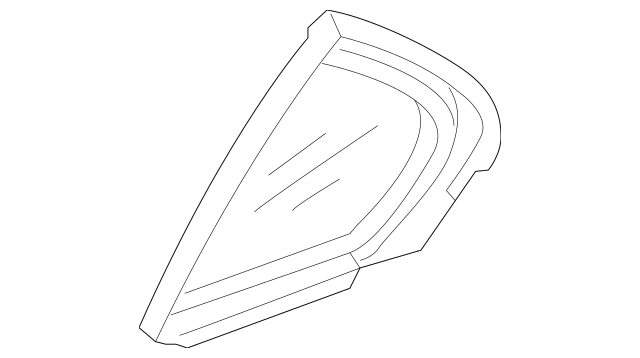2005-2012 Acura RL SEDAN Glass Assembly, R Rear Door