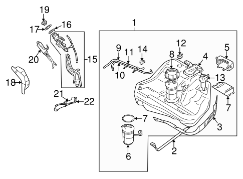 Fuel System Components for 1999 Mitsubishi Galant
