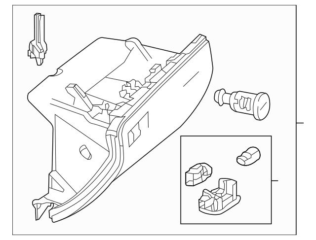 2012-2019 Mercedes-Benz Glove Box 166-680-00-91-7M55