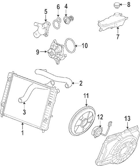 Radiator & Components for 2008 Cadillac XLR