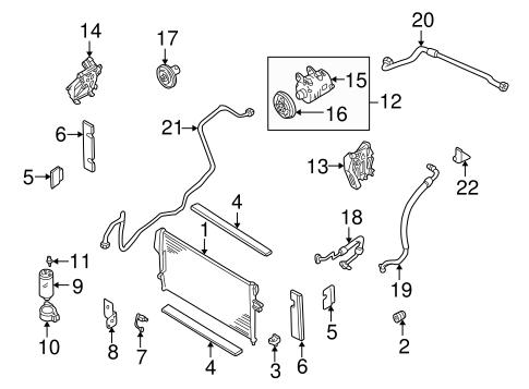 Condenser, Compressor & Lines for 2003 Nissan Xterra