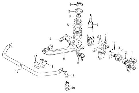 OEM 1998 Chevrolet Tracker Front Brakes Parts