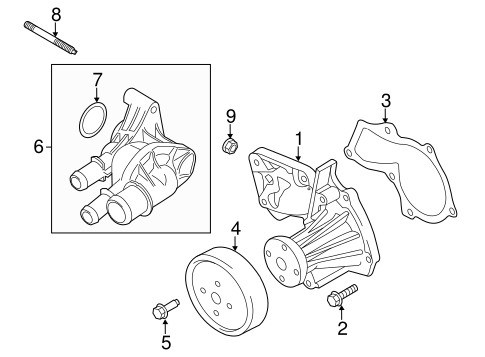 WATER PUMP for 2014 Ford Fusion