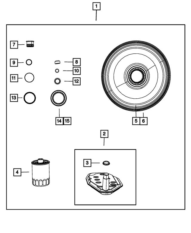2001-2020 Mopar Transmission Oil Sump Filter Kit 5013470AE