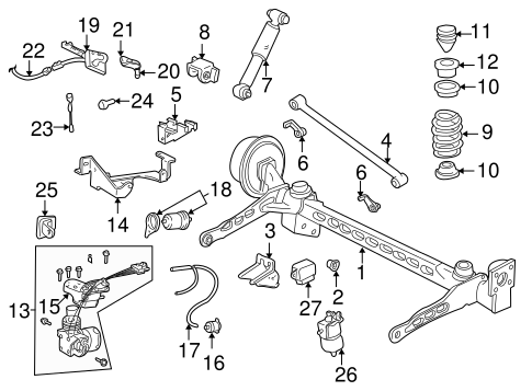 REAR SUSPENSION Parts for 2002 Chevrolet Venture