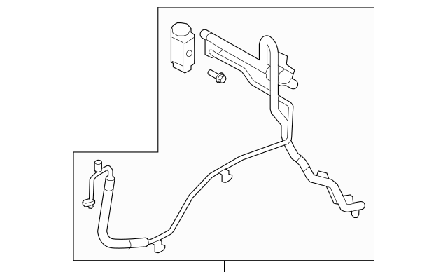 Genuine OEM Liquid Line Part# 97760-2J100 Fits 2009 Kia