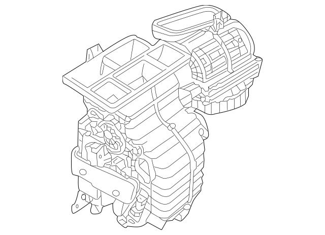 2005-2010 Kia Sportage AC & Heater Assembly 97204-1F000