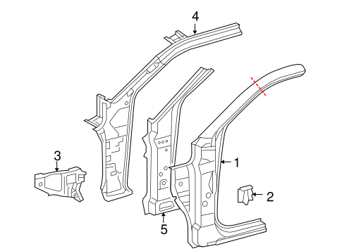 Genuine OEM Hinge Pillar Parts for 2014 Toyota Tacoma Pre