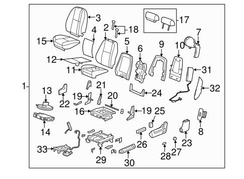 OEM Front Seat Components for 2011 Chevrolet Silverado