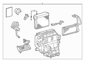 2008-2013 Lexus LX570 Evaporator Assembly 87050-60470