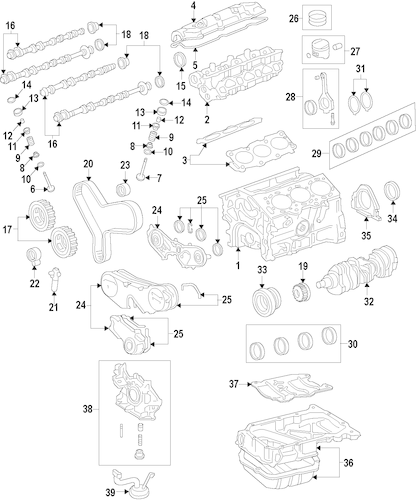 Genuine OEM MOUNTS Parts for 2001 Toyota Camry XLE