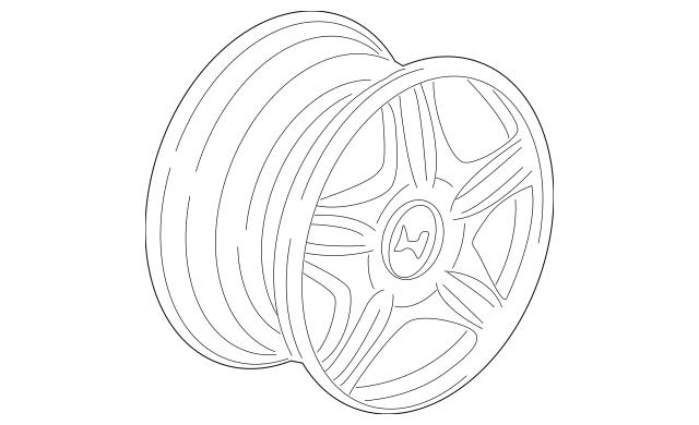 Genuine 1999-2004 Honda Wheel, Chrome (16