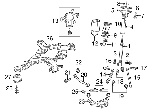 Rear Suspension for 2011 Jeep Grand Cherokee Parts
