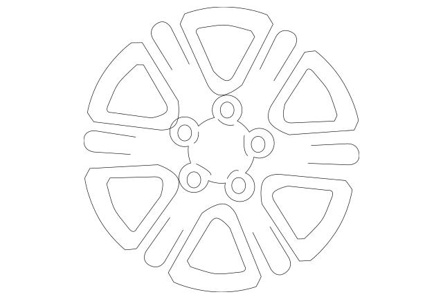2008-2010 Toyota Highlander Wheel, Alloy 42611-48500