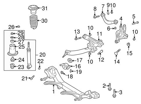 Genuine OEM Rear Suspension Parts for 2001 Toyota Celica